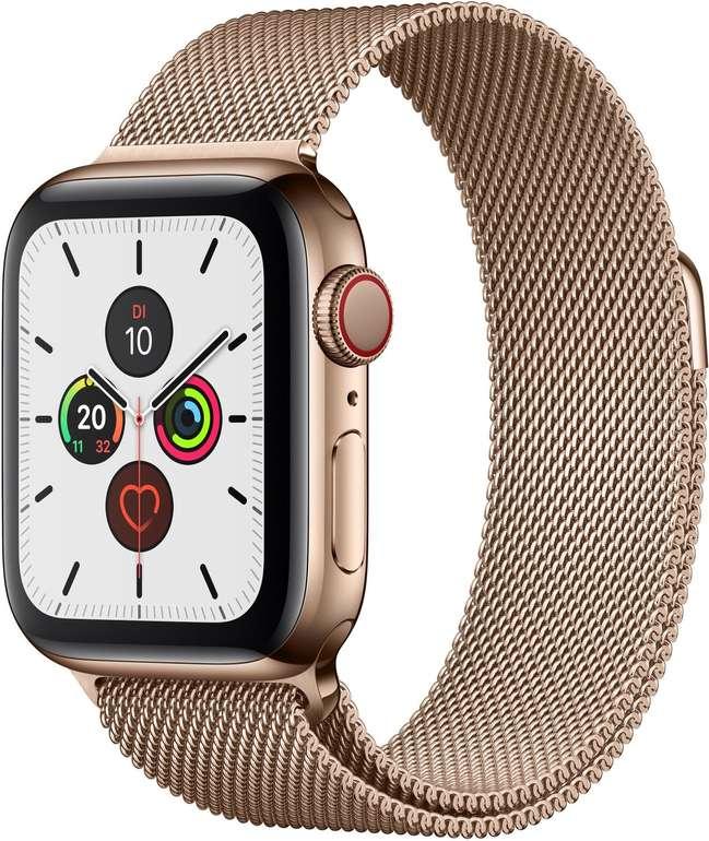 Apple Watch Series 5 (GPS + Cellular, 40 mm) in Gold mit Milanaise Armband für 667,01€ (statt 768€)