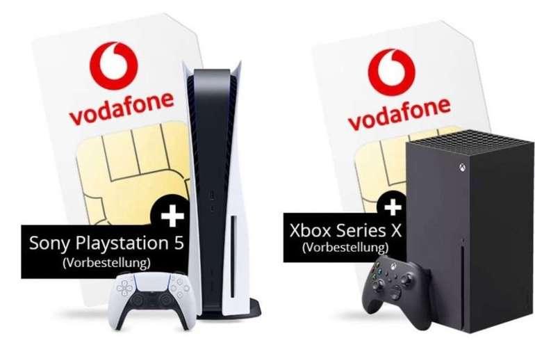 Sony PlayStation 5 oder Xbox Series X + Vodafone Allnet & SMS Flat mit 15GB LTE/5G für 34,99€ mtl.