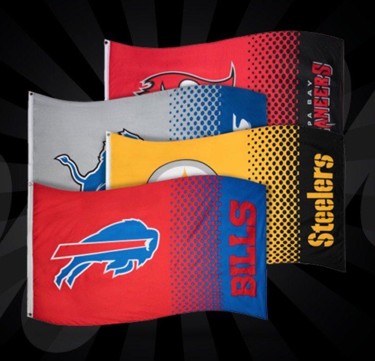NFL Fahnen bzw. Flaggen (versch. Modelle) für je 7,28€ inkl. Versand (statt 11€)