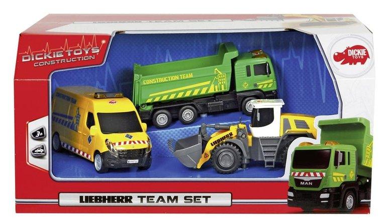 Dickie Toys Liebherr-Team-Set Baufahrzeuge für 6,97€ inkl. VSK (statt 14,99€)
