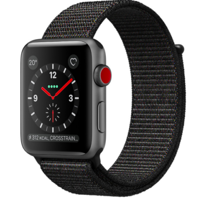 Apple Watch Series 3 (GPS + Cellular) 42mm mit Sport Loop Armband für 299,99€