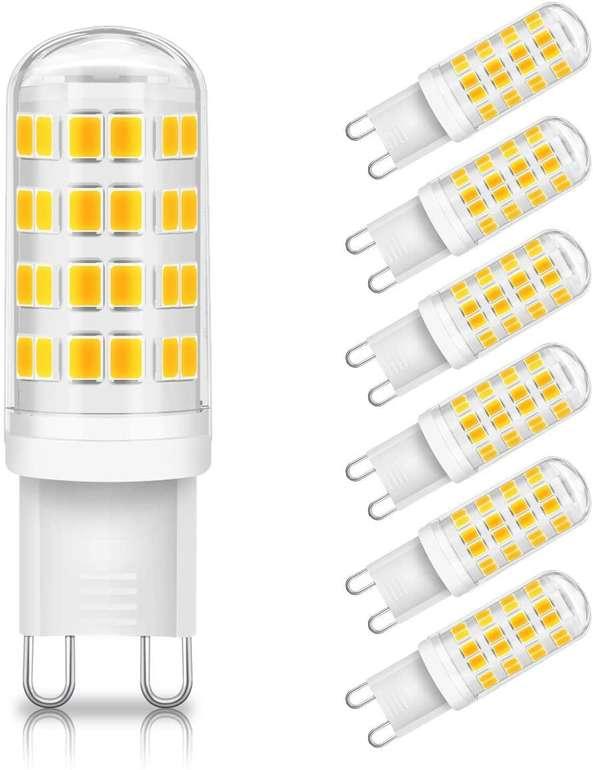 Kingso G9 LED Lampen im 6er Pack (6W, 3000K) für 9,74€ inkl. Prime Versand (statt 13€)