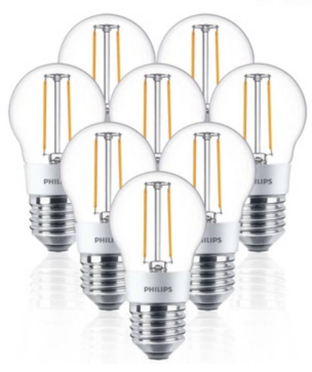 8er Pack dimmbare Philips LED-Lampen (E27) für 22,90€ inkl. Versand