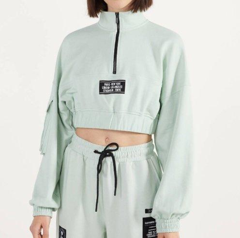 Cropped-Sweatshirt mit Reißverschluss für 11,94€ inkl. Versand (statt 14€)
