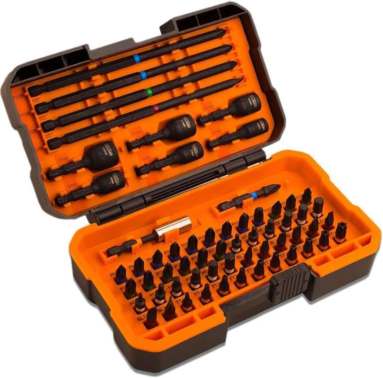Tacklife PSDB1B - 60-teiliges Bit Set im Werkzeugkoffer für 17,39€ inkl. Versand (statt 29€)