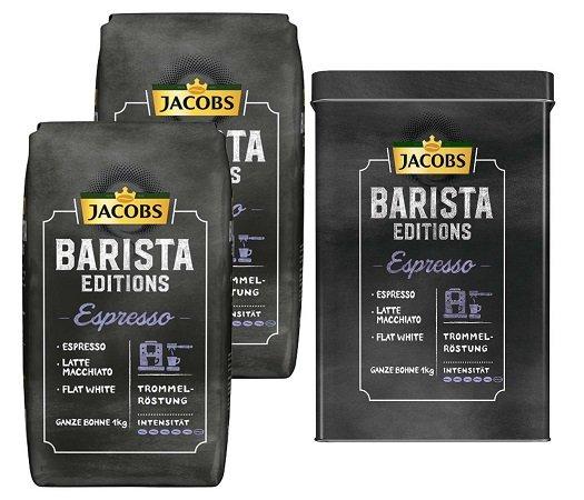 2kg Jacobs Barista Editions (Bohnen) + Kaffeedose für 17,95€ (statt 25€)