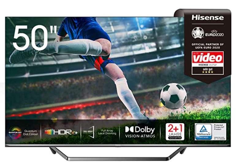 Hisense 50U7QF QLED Fernseher mit 50 Zoll (4K, Smart TV, HDR 10+, Dolby Vision) für 410,77€inkl. Versand (statt 549€)