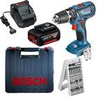 Bosch GSB 18-2 LI Plus Kombibohrer + 4 Ah Akku + 24-tlg. Bit-Box zu 116,91€
