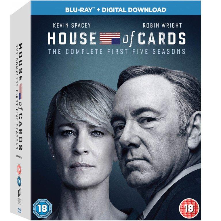 House of Cards Staffel 1-5 auf Blu-ray nur 51,48€ (Import, deutsche Tonspur)
