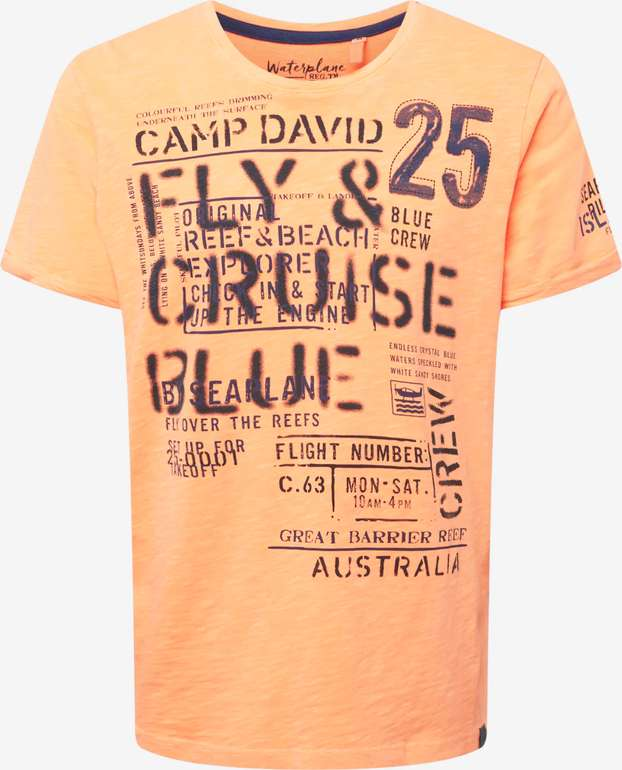 Camp David T-Shirt in grau für 11,96€ inkl. Versand (statt 35€)