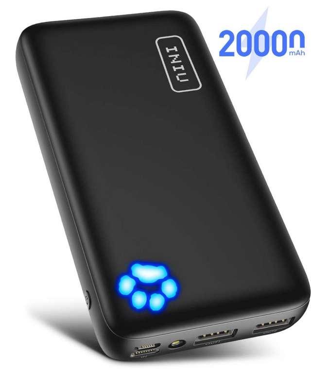 INIU Power Bank Dual mit 20000mAh für 15,98€inkl. Prime Versand (statt 28€)