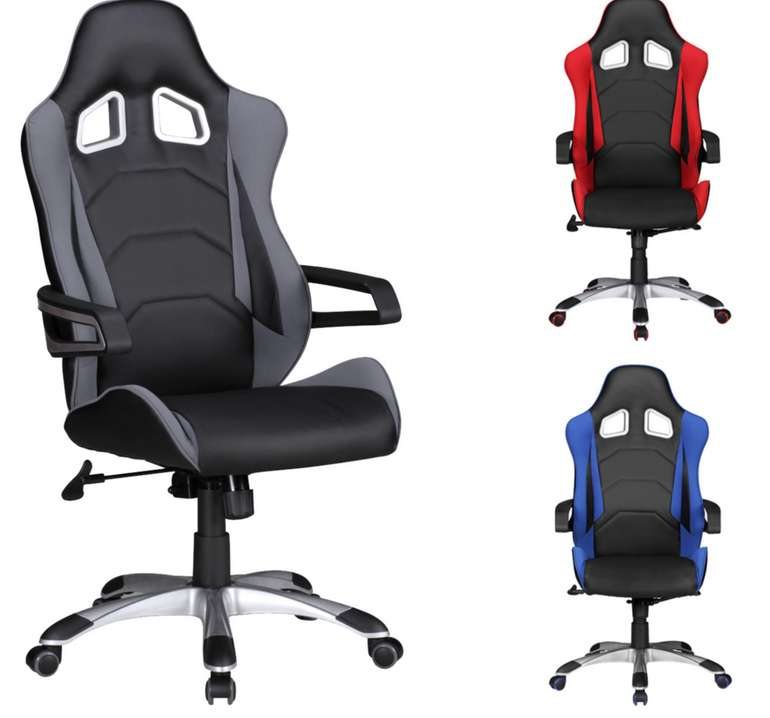 Amstyle Speed Racing Racer Drehstuhl in rot oder blau für 79,95€ inkl. Versand (statt 170€)