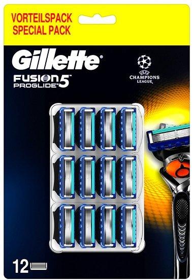 12er Pack Gillette Fusion 5 ProGlide Rasierklingen für 30,90€ (statt 37€)
