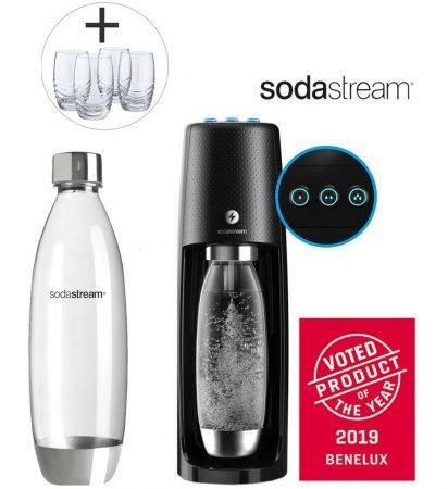 SodaStream Easy One Touch Wassersprudler + 4 Gläser für 95,90€ inkl. VSK
