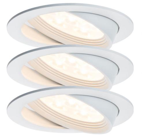 3er Set Paulmann Albina Premium Line LED Einbauleuchten für 39,99€ (statt 49€)