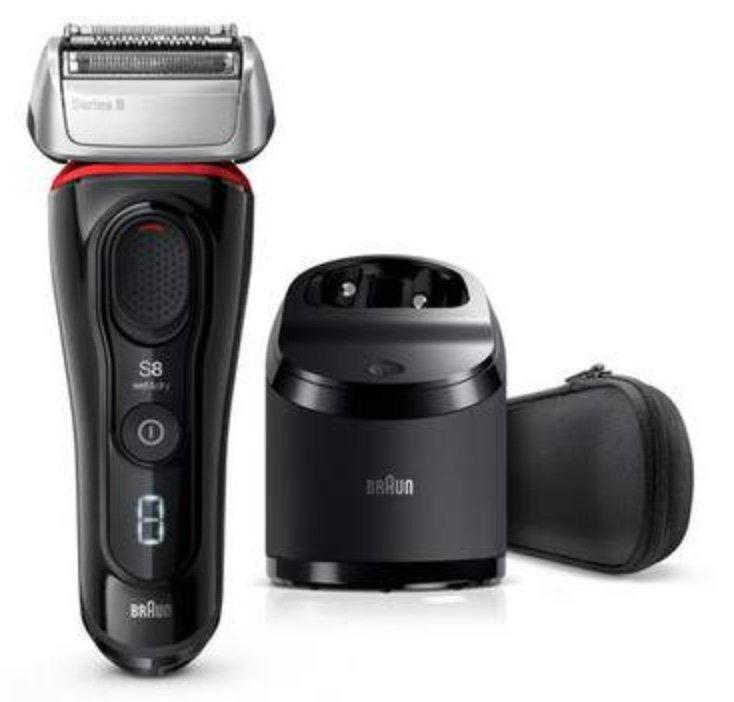 Braun Series 8 8360CC Nass- und Trockenrasierer 8360CC mit Reinigungs- und Ladestation für 135,90€ (statt 212€)