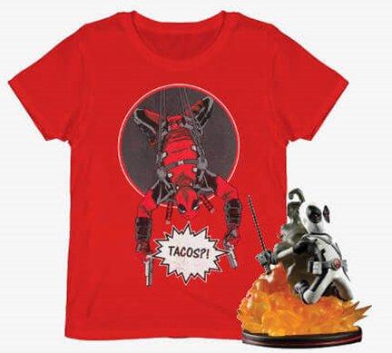 Deadpool T-Shirt + Figur für 12,49€ inkl. Versand (statt 21€)