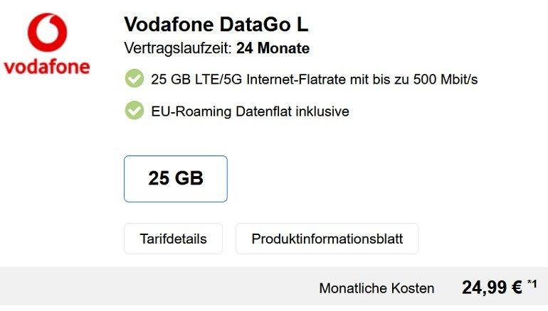Vodafone DataGo L Tarif