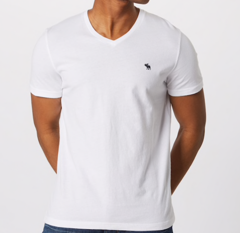 "3er Pack Abercrombie & Fitch Herren Shirt ""GLBL V Neck"" in weiß für 38,17€"