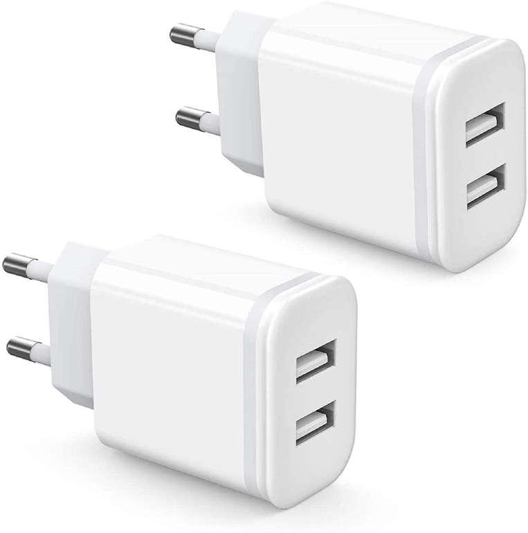 2 Niluoya Produkte bei Amazon günstiger, z.B. 2 Port USB Ladegerät (2 Stück) für 6,99€ inkl. Prime Versand
