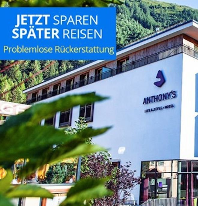 St. Anton: Ab 2 Nächte im 4* Anthony's Life & Style Hotel inkl. Halbpension & Spa ab 129€pro Person