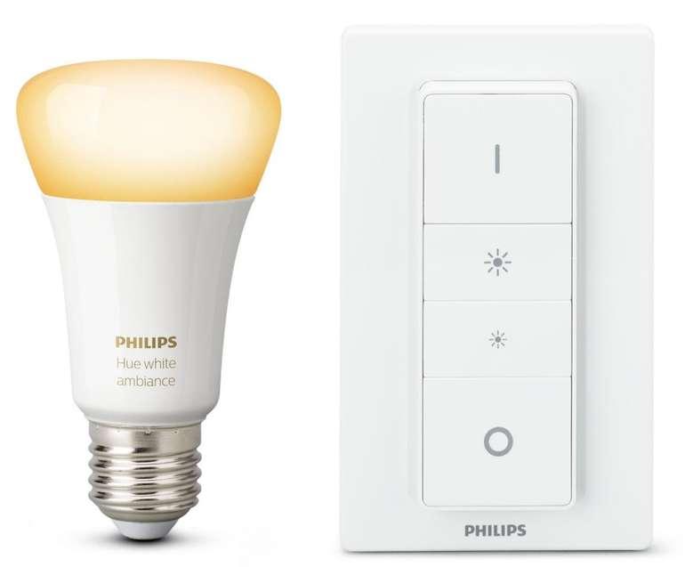 Philips Hue Light Recipe Kit mit White Ambiance E27 Leuchte und Dimmschalter für 27,99€ (statt 37€)