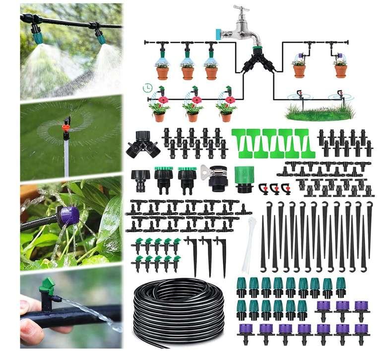 30M Mikro Drip Bewässerungssystem für den Garten für 6,39€ inkl. Prime Versand (statt 16€)