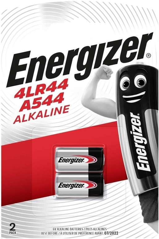 Energizer 4LR44/A544 Alkali Batterien (AAAA), 6V - 2 Stück für 0,95€ inkl. Primeversand (statt 3€)