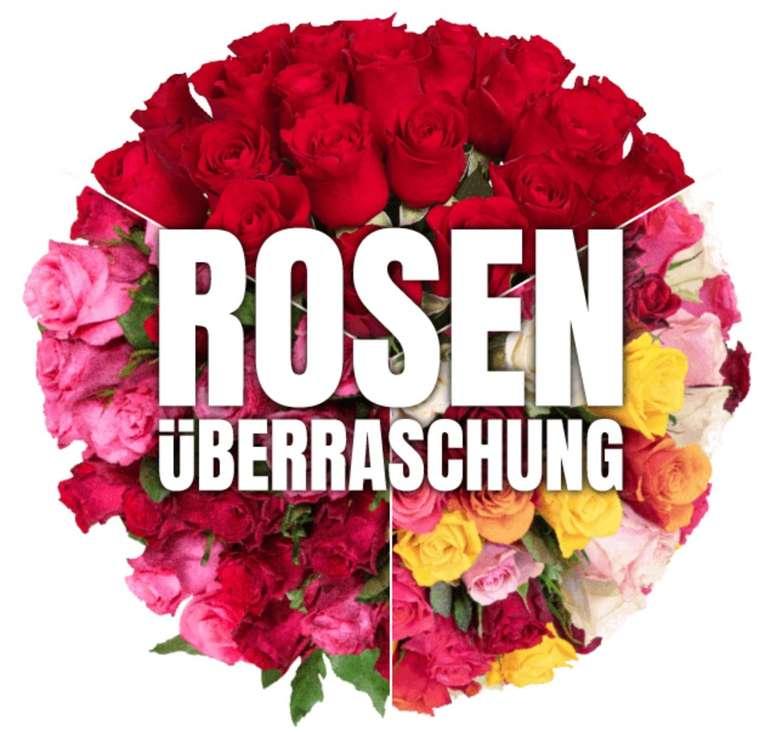 Blume Ideal Rosenüberraschung: Strauß mit 35 bunten Rosen für 22,98€