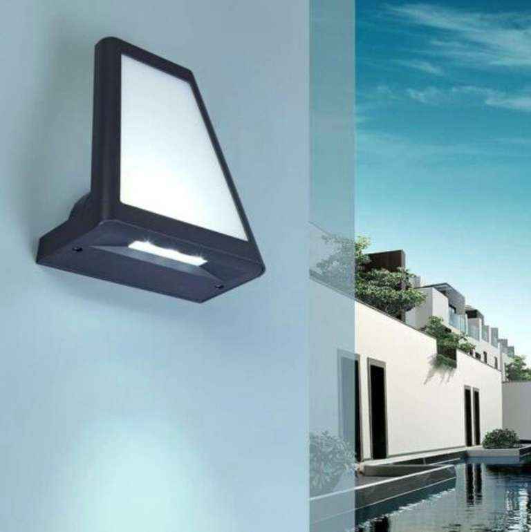 Lutec Alu LED Außen Wandleuchte (IP54-Schutz, 690 Lumen, 4100K) für 14,99€ inkl. Versand