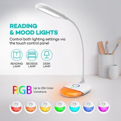 TaoTronics LED-Schreibtischlampe dimmbar mit Stimmungslicht für 16,99€ inkl. VSK