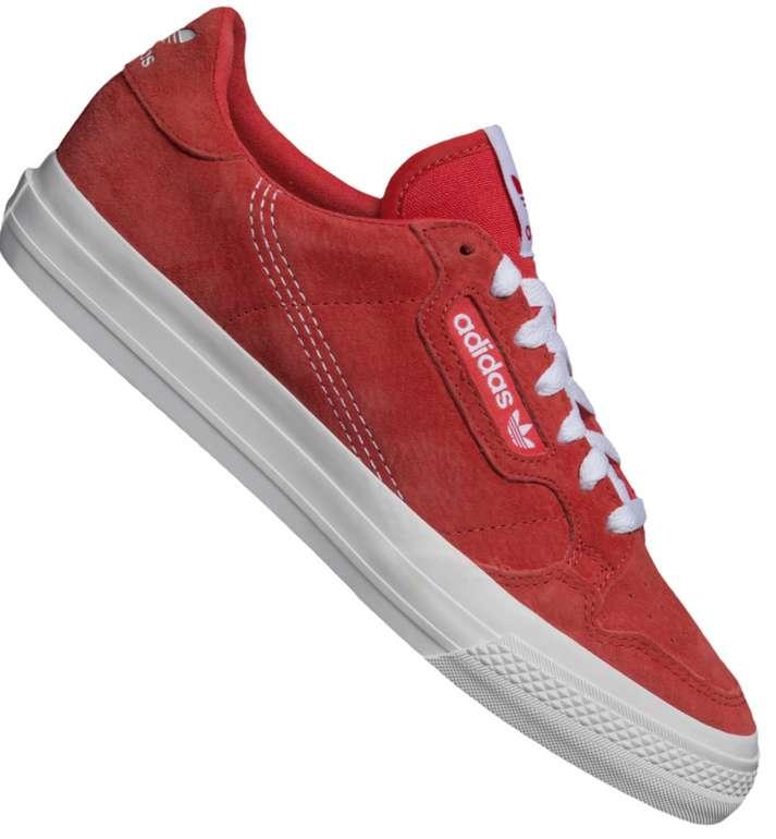 adidas Originals Continental Vulc Sneaker in Rot für 49,99€ inkl. Versand (statt 60€)