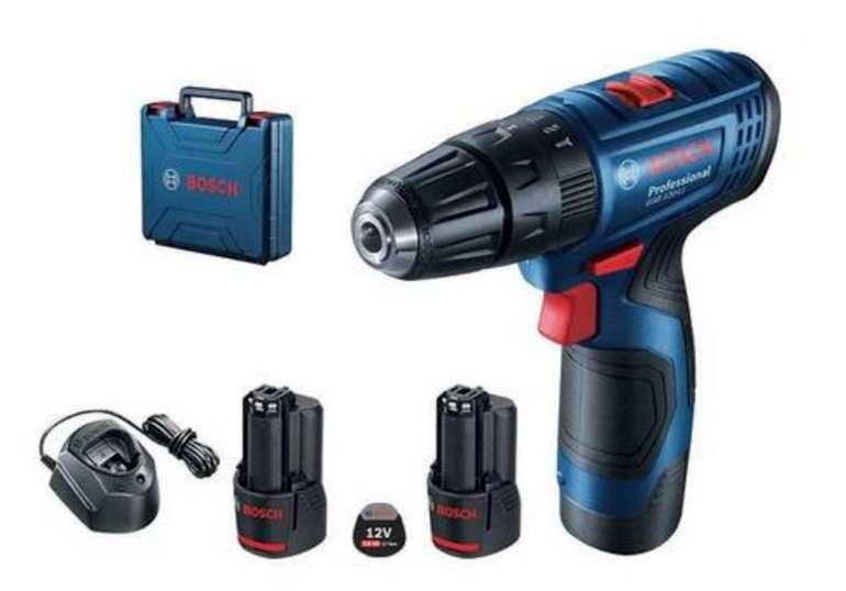 Bosch Professional GSB 120-LI Akku-Bohrschrauber mit 12V + 2. Akku und Koffer für 85,29€ inkl. Versand (statt 99€)