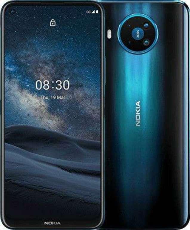 Nokia 8.3 5G + Power Earbuds (99€) + Congstar Allnet und SMS Flat mit 8GB LTE für 20€ mtl.