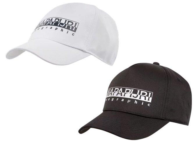 """Napapijri Basecap mit Logo-Print Modell """"Framing"""" in weiß oder schwarz für 13,99€ inkl. Versand (statt 25€)"""