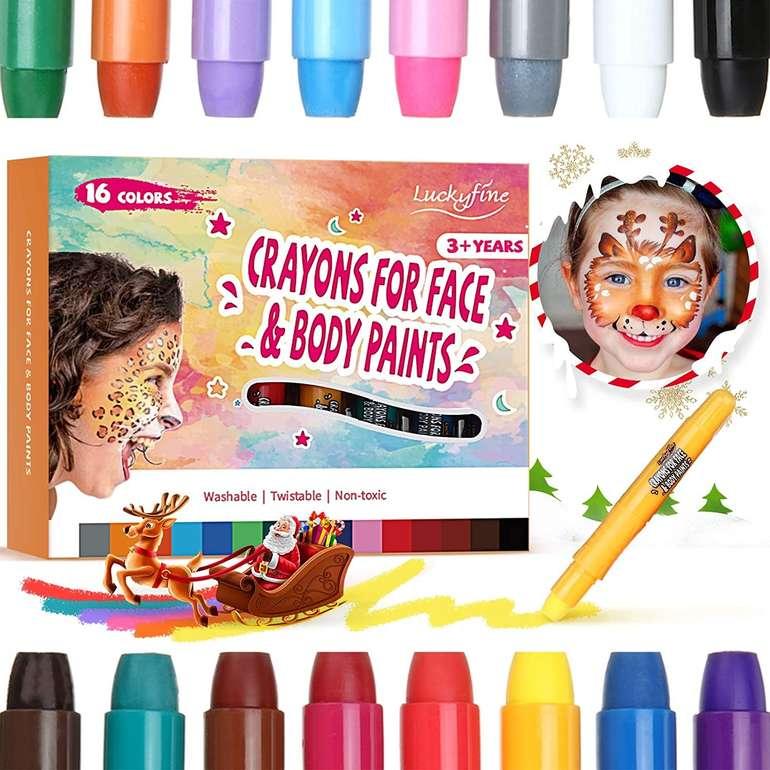 Luckyfine Schminkstifte Set mit 16 Farben für 9,56€ inkl. Prime Versand (statt 16€)
