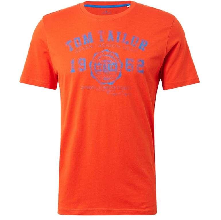 3er-Pack Tom Tailor Herren Basic T-Shirts mit Logo Print für 15€ inkl. Versand