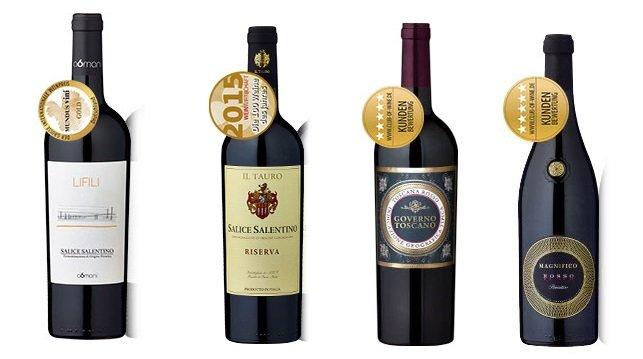 """12 Flaschen italienischer Rotwein im """"Bella Italia"""" Probierpaket für 59,70€"""