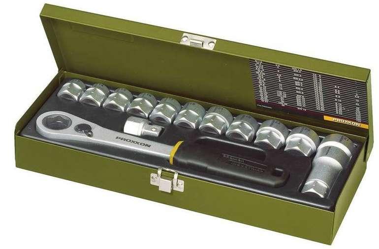 """Proxxon Industrial Steckschlüsselsatz metrisch 1/2"""" 14tlg. (23604) für 42,65€ inkl. Versand (statt 54€)"""