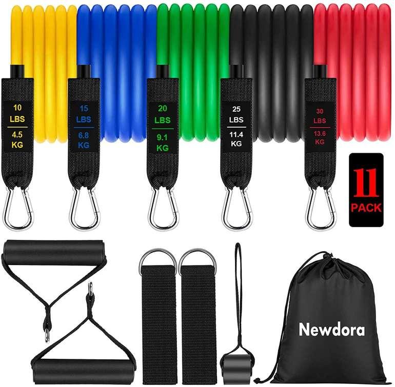 Newdora Widerstandsbänder Set für 10,99€ inkl. Prime Versand (statt 22€)