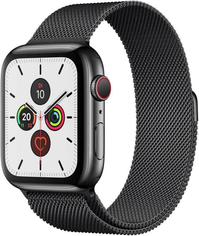 Apple Watch Series 5 GPS + LTE Edelstahl Space Milanaise 44mm für 505,37€ (statt 665€)