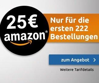 HOT! Telekom Tarif mit 100 Freiminuten und 1GB Daten für 3,99€ mtl. + 25€ Amazon