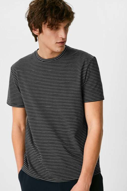 C&A Herren T-Shirt aus Bio-Baumwolle in 2 Farben für je 5,99€ inkl. Versand