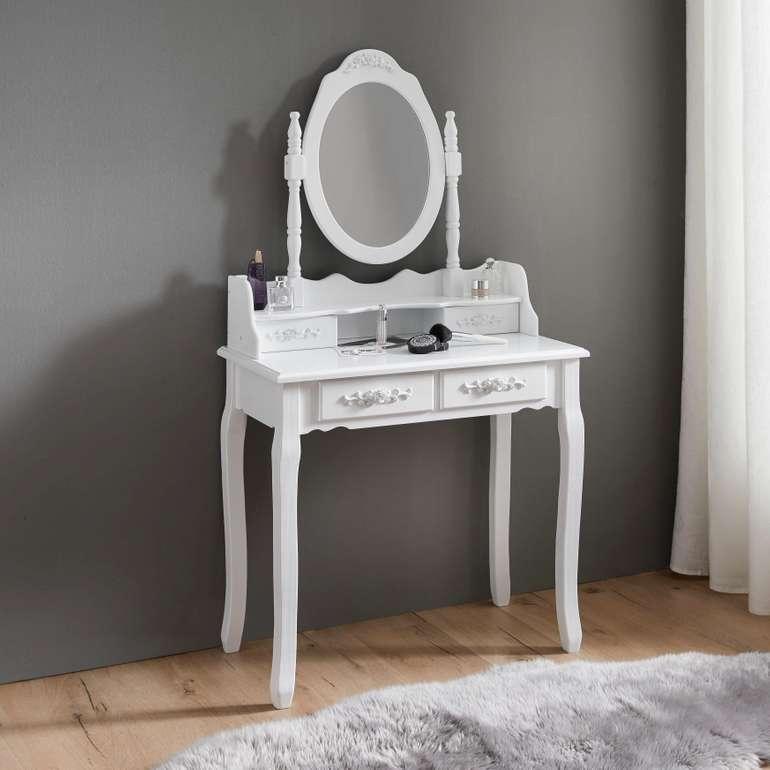 """Bessagi Home Schminktisch """"Romy"""" (75 x 40 cm) in weiß für 48,30€ inkl. VSK (statt"""
