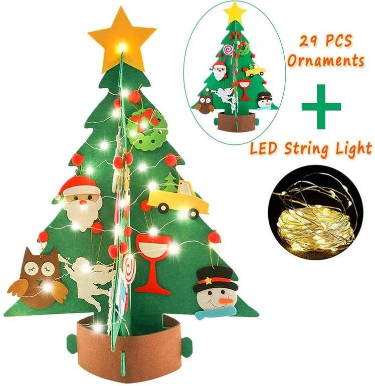 Joyibay DIY Weihnachtsbaum aus Filz inkl. Lichterkette für 5,99€ (Prime)