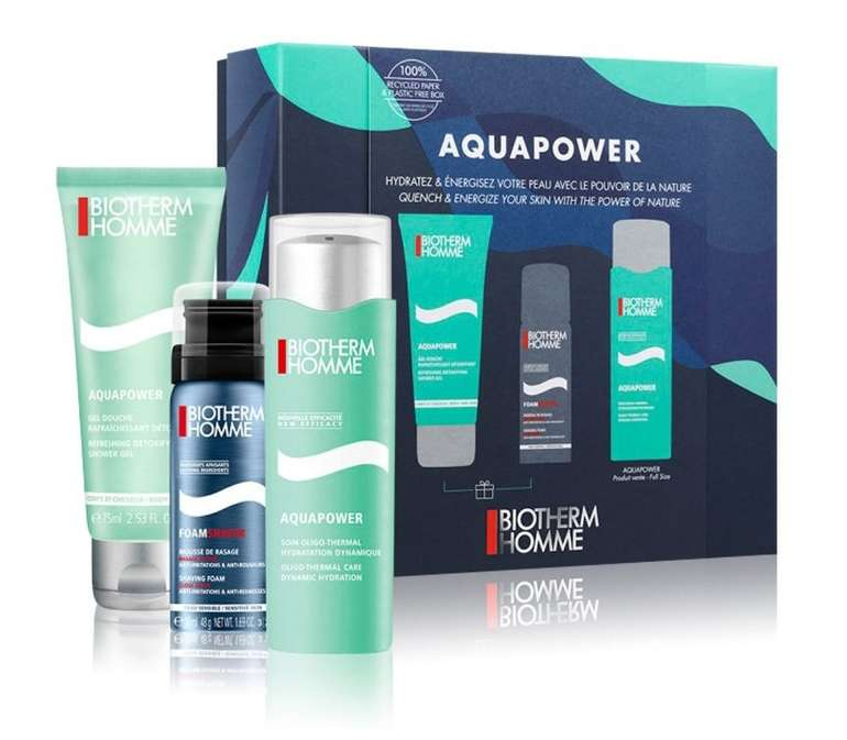 Biotherm Aquapower Homme Pflegeset 2020 (3-tlg.) für 23,95€ inkl. Versand (statt 33€)