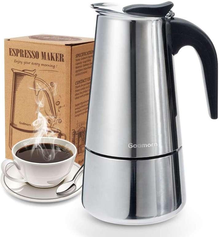 Godmorn Edelstahl Espressokocher (300 oder 450 ml) ab 13,99€ inkl. Prime VSK