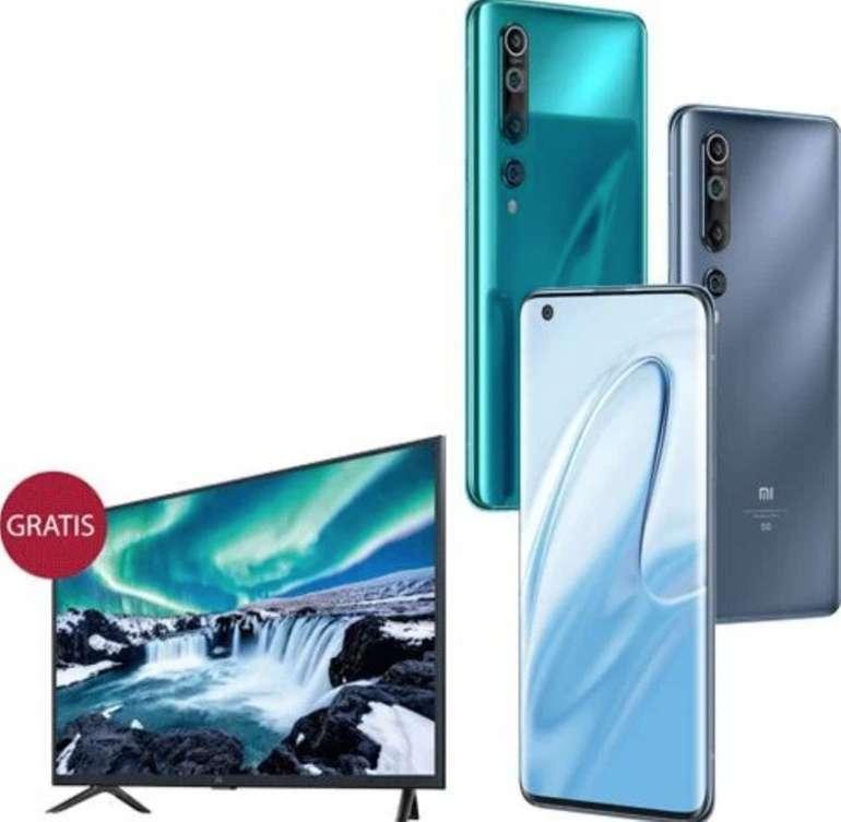 "Xiaomi Mi 10 Smartphone + 32"" Smart TV 4A (29€) + Vodafone Klarmobil (5GB LTE, Allnet/SMS) für 29,99€ mtl."