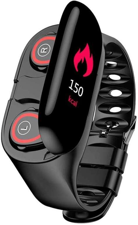 Docooler 2-in-1 Fitness Armband mit TWS Bluetooth Kopfhörer für 39,99€ (statt 55€)