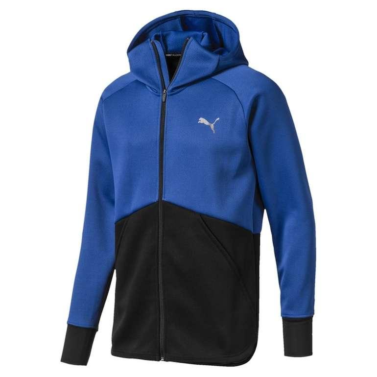Puma Herren Trainingsjacke 'Power BND' in blau / schwarz für 28€ (statt 63€)